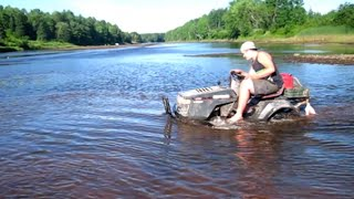 Download Swamping The mud Mowers In the river..Very deep water stalls Video