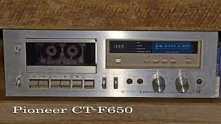 Download Cleaning and replacing the belts on Pioneer CT-F650 Cassette Deck Video