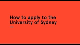 Download How to apply to the University of Sydney Video