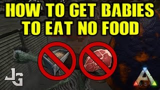 Download ARK - How to get babies to eat almost no food while maturing - Trick - 2017 Video