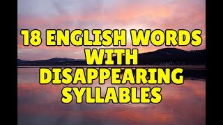 Download 18 English Words with Disappearing Syllables Video
