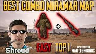 Download Ghillie Suit vs AWM in MIRAMAR MAP - Shroud win solo game FPP - PUBG HIGHLIGHTS TOP 1 #28 Video