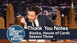 Download Thank You Notes: Alaska, House of Cards Season Three Video