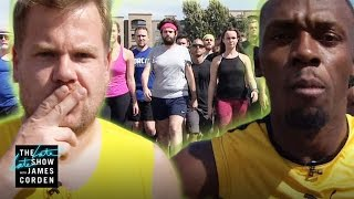 Download 100m Race: Usain Bolt vs James Corden & Owen Wilson Video