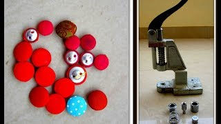 Download How to make Fabric Buttons easily - A COMPLETE TUTORIAL Video