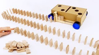 Download How to Make Domino Row Building Machine from Cardboard Video