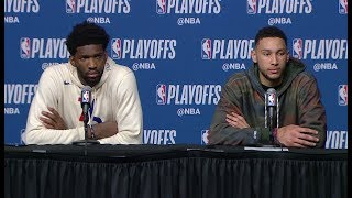 Download Joel Embiid & Ben Simmons Postgame Interview | 76ers vs Celtics - Game 2 | May 3, 2018 NBA Playoffs Video