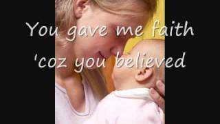 Download Because You Loved Me, Celine Dion (with Lyrics) - Dedication to Mothers Video