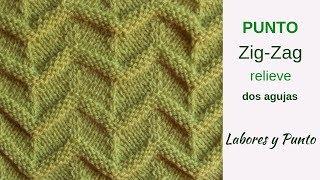 Download Como tejer el punto zig zag relieve a dos agujas- Labores y Punto Video
