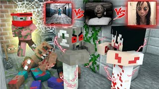 Download Monster School : GRANNY VS MOMO AT HORROR HOSPITAL - Minecraft Animation Video