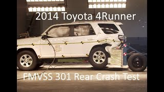Download 2011-2018 Toyota 4Runner FMVSS 301 Rear Crash Test (50 Mph) Video
