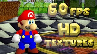 Download Super Mario 64 like you've never seen before. [60fps Mod + HD TEXTURES] Video