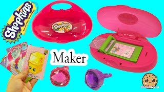 Download Shopkins Do It Yourself Cool Cardz Card Maker Machine with Stamp + Marker - Cookieswirlc Video