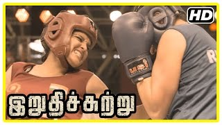 Download Irudhi Suttru Tamil Movie | Climax Scene | Ritika wins the match and gives credit to Madhavan Video