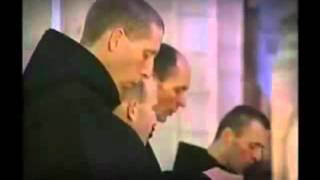 Download Monks singing Gregorian Chant in a Catholic Benedictine Seminary Video