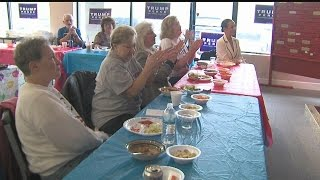 Download Local Trump supporters gather in Boardman for watch party Video