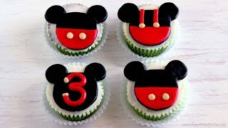 Download Mickey Mouse Cupcake and Cake Toppers   HappyFoods Video