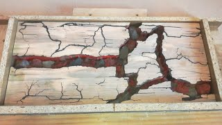 Download Lichtenberg Wood Burning with Epoxy Resin and Lava Rocks Small Coffee Table Part1 Video