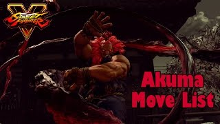 Download Street Fighter V - Akuma Move List Video