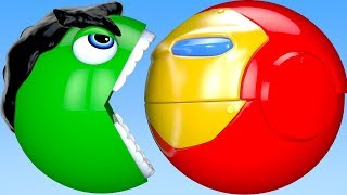 Download Learn Colors PACMAN and Hulk Iron Man Farm Watermelon Tractor Surprise Toy for Kid Children Video
