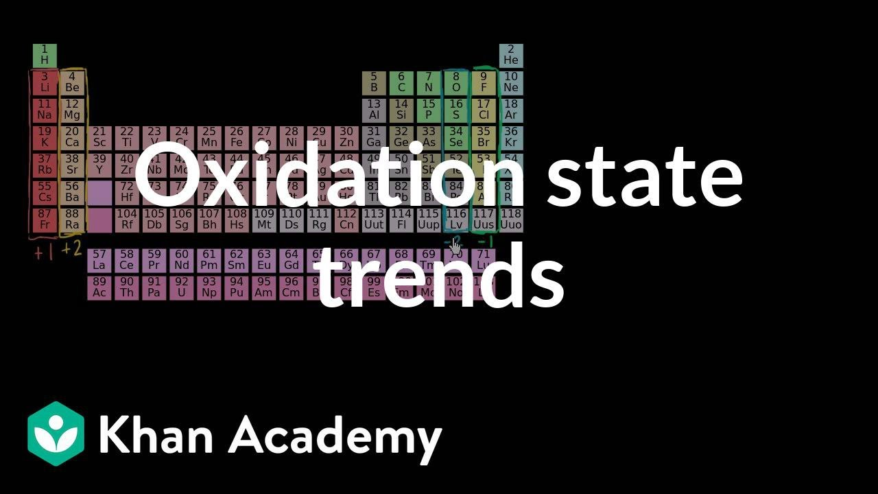 Stream oxidation state trends in periodic table chemistry khan oxidation state trends in periodic table chemistry khan academy urtaz Image collections