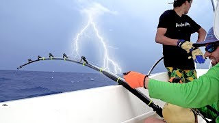 Download Hooked up to a Giant Shark in a TERRIBLE Lightning Storm - ft. Paul Cuffaro Video