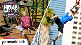 Download Parkour Training Leads to ANWJr. Course | AMERICAN NINJA WARRIOR JUNIOR Video