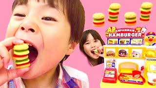 Download グミバーガー アンパンマン ハンバーガー屋さん で作りました♫ こうくんねみちゃん Video