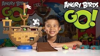 Download Angry Birds GO! - PIRATE PIG ATTACK Game - Jenga Unboxing & Review Video