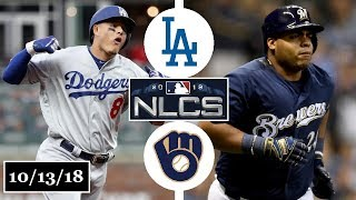 Download Los Angeles Dodgers vs Milwaukee Brewers Highlights || NLCS Game 2 || October 13, 2018 Video