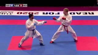 Download Rafael Aghayev vs René Smaal. Final Kumite Male -75kg. 48th European Karate Championships Video