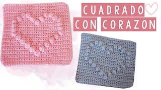 Download CUADRADO DE CROCHET CON CORAZON - TUTORIAL | Danii's Ways ♡ Video