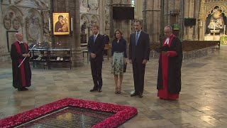 Download Prince Harry hosts King Felipe VI of Spain at Westminster Abbey Video