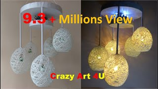 Download Make a Home Made Wrapped Balloon Lamp| Easy Home Made Lamp by Crazy Art 4 U Video