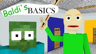 Download Monster School : BALDI'S BASICS CHALLENGE - Minecraft Animation Video
