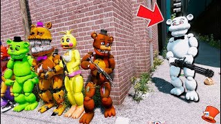 Download CAN THE ANIMATRONICS DEFEAT EVIL WHITE FREDDY? (GTA 5 Mods Kids FNAF RedHatter) Video