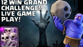 Download 12 WIN GRAND CHALLENGE! LIVE BATTLES BOWLER GRAVEYARD! CLASH ROYALE Video