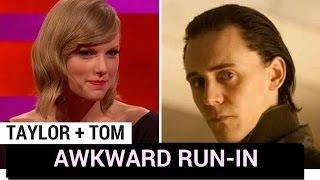 Download Tom Hiddleston Awkwardly Runs Into Taylor Swift! (WEIRD THIS WEEK) Video