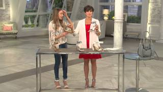 Download Marc Fisher Perforated Wedge Sandals - Coley with Nancy Hornback Video