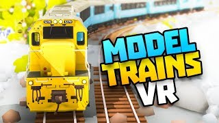 Download AMAZING VR MODEL TRAIN SIMULATOR - Rolling Line VR Gameplay - VR HTC Vive Pro Gameplay Video