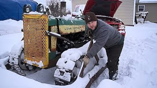 Download HAPPY NEW YEAR - Plowing Snow with a 70 Year Old Tractor Video