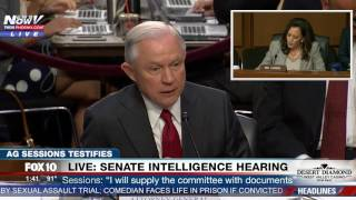Download HEATED: Sen. Kamala Harris vs. AG Jeff Sessions - Senate Intelligence Committee Hearing (FNN) Video
