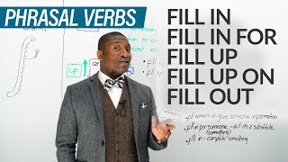 Download 11 PHRASAL VERBS with FILL: fill in, fill out, fill up... Video