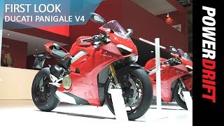 Download World Exclusive: 2018 Ducati Panigale V4 : EICMA 2017 : PowerDrift Video