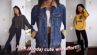 Download how to look cute with no effort // lazy day outfits Video