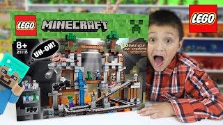 Download Lets Build LEGO Minecraft THE MINE! w/ Mike! (Timelapse & FGTEEV Cheesy Review) Video