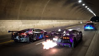Download Racing the Two Craziest Lamborghinis in LA (MASSIVE FLAMES) Video