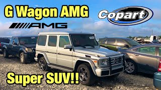 Download Looking At A Crazy Super Suv Totaled Wrecked 2016 Mercedes-Benz G Wagon AMG At Copart Auction Video