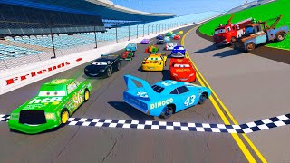 Download Race Cars 2 Daytona McQueen Chick Hicks The King DINOCO and All Cars Friends Videos for Kids & Songs Video
