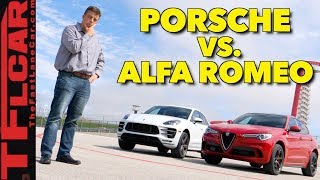 Download Which Is Faster? Alfa Romeo Stelvio Quadrifoglio vs Porsche Macan Turbo Video